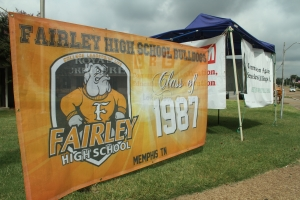Fairley High School displayed their banner.